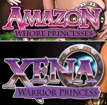 Amazon Whore Princesses & Xena Warrior Princess logos