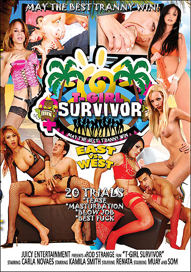 T-Girl Survivor: East Vs. West - tranny porn parody