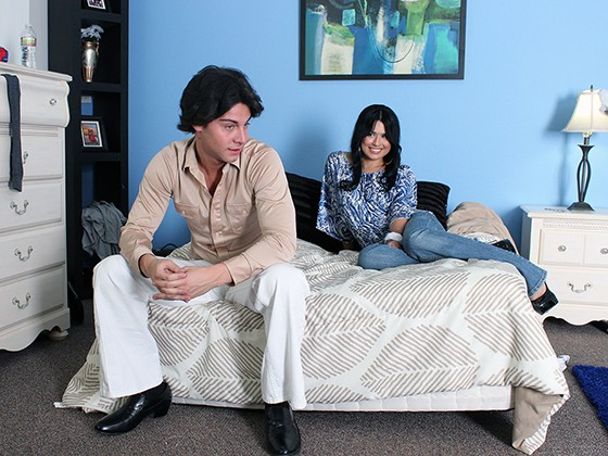 Seth Gamble and Eva Angelina in Welcome Back Kotter XXX Parody