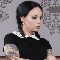 Very Adult Wednesday Addams from Burning Angel